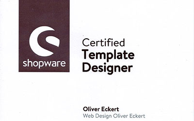 Zertifikat Shopware Template Designer Preview